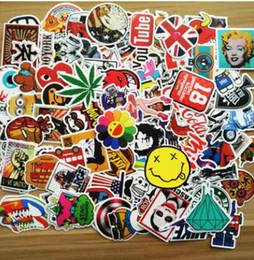 Wholesale Vinyl Bags Wholesale - 4500X Skateboard Sticker Vintage Vinyl Laptop Luggage Decals Dope Sticker Mix