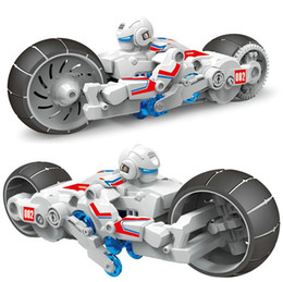 Wholesale Cheap Plastics For Motorcycles - Self-assembled Brine Power Motorcycle Robot Kids Toys DIY Puzzle Model Salt Water Power Toy For Children Gift Wholesale Cheap DHL Fast