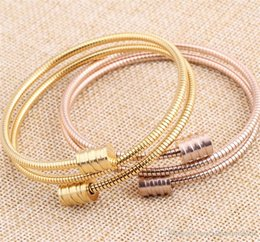 Wholesale Stackable Bangles Wholesale - Fashion Stainless Steel Triple Three Stackable Cable Wire Twisted Cuff Bangle Bracelets Set for Women