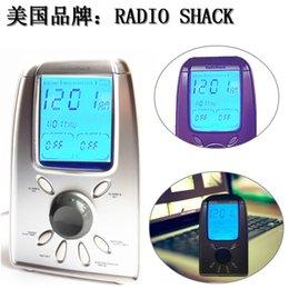 Wholesale Power Speaker Rechargeable - Wholesale-30. clock timing power radio desktop is a portable radio elderly mini radios