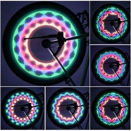 Wholesale 32 Led Bike Wheel Lights - New Arrival Colorful Bicycle Lights Bike Cycling Wheel Spoke Light 32 LED 32-pattern Waterproof Drop Shipping