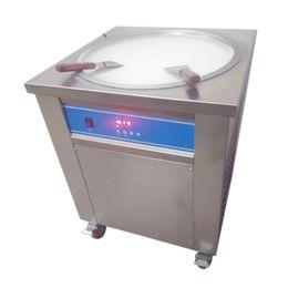 Wholesale Air Frying - Newest Smart Thai Fried Ice Cream Roll Machine Single 50 CM Pan Fry Pan Ice Cream Rolled Juice Yoghourt Maker 110v 220v 3002040