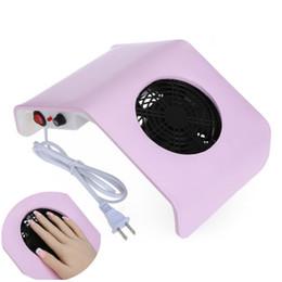 Wholesale Suction Plug - EU UK US Plug Mini Convenient 30W 220V   110V Electric Suction Nail Dust Collector Machine 2 Colors