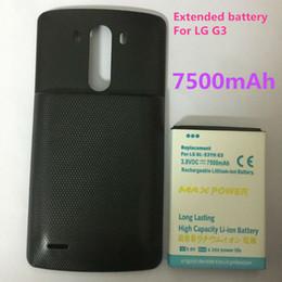 Wholesale G3 Batteries - BL-53YH 7500mAh Extended Battery+ Black Door Cover Case For LG G3 G4 Cell phone extended battery