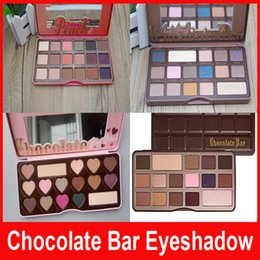 Wholesale Glitter 12 Pcs - NEW arrival HOT Makeup Chocolate Bar Eyeshadow palette semi-sweet bonbons sweet peach Eye Shadow palette 12 pcs