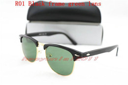 Wholesale Gun Black Glass - New 1pcs Excellent Quality Fashion Designer Sunglasses Semi Rimless Sun Glasses For Mens Womens Gun Frame Black 51mm Glass Lenses With Cases