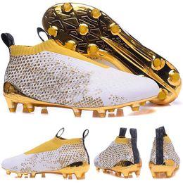 2016 Hombres Zapatillas de deporte de entrenamiento, X Ace 16+ PureControl Stellar Pack FG Oro blanco Botas de fútbol Zapatos Botas de fútbol Zapatillas de deporte desde fabricantes