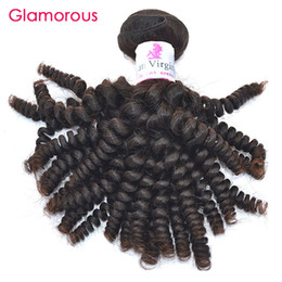 Wholesale Brazilian Cuticle Hair - Glamorous Raw Indian Human Hair Extensions 4 Bundles of Brazilian Hair Weave 8-34inch Peruvian Malaysian Spiral Curly Full Cuticle Hair Weft