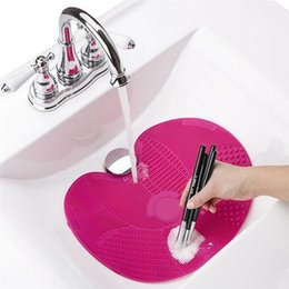 Wholesale Hand Wash Wholesale - Silicone Professional Makeup Brush Cleaner Washing Scrubber Board Cosmetic Cleaning Mat Pad Hand Make Up Tools