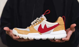 Wholesale Crafts Canvas - 2017 Tom Sachs x Craft Mars Yard 2.0 TS NASA Joint Limited Man Sneaker Craft Mars Yard TS NASA Natural Sport Red Maple Men's Running Shoes