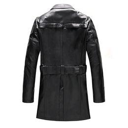 Wholesale Mens Suits Mandarin - Free Shipping Men's New Suit Sheep Leather Jacket Man Autumn and Winter Mens Fashion Slim Length Medium Waist Leather Coat 717