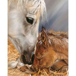 Wholesale Black Paint Horses - 100% Full Drill Diamond Painting Horse 5D Diamond Mosaic Rhinestone Cross Stitch Embroidery Home Decor Handmade(Free Shipping)