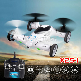 Wholesale Remote Control Switch Camera - SY X25 2.4G 8CH 6 Axis Gyro 2.0MP HD Camera UFO Land Sky Universal RC Quadcopter with LED Light Hover Function Speed Switch Drones +B