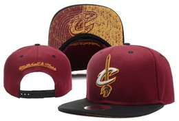Wholesale Red Hats For Sale - 2017 New Hot Sale michell & ness CLEVELAND basketball team snapback hats sports caps for men women ball caps 12 style free shipping