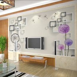 Wholesale Photo Print Paper Sizes - Wholesale- Custom Any Size 3D Wall Murals Wallpaper For Living Room Modern Fashion Beautiful Photo Murals Tree Wall Papers Home Decor
