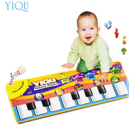 Wholesale Dropship Best - Wholesale- New Touch Play Keyboard Musical Music Singing Gym Carpet Mat Best Kids Baby Gift Levert Dropship A81