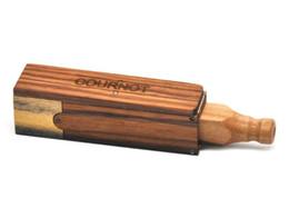2019 cigarro feito à mão O novo puro tubo de madeira feito à mão tubo telescópico único buraco cigarro titular tubo de cigarro de madeira pura desconto cigarro feito à mão
