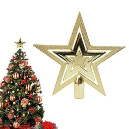 Wholesale New Year S Tree - Wholesale- Christmas tree top star topper for home house party wedding festival carnival decoration New Year Christmas Xmas