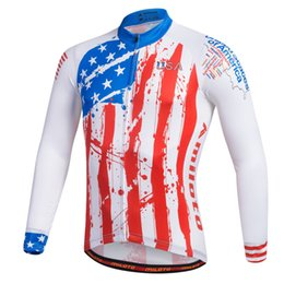 Wholesale cycling jersey long sleeve summer - 2017 USA NEW Pro MTB#007 spring summer autumn men cycling jersey long sleeve quick dry cycling clothing bicycle racing Ciclismo bike wear