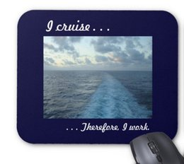Wholesale I Pad Computer - Rectangular non-slip natural rubber mouse mat I cruise therefore blue computer accessories office supplies mouse pad of gift