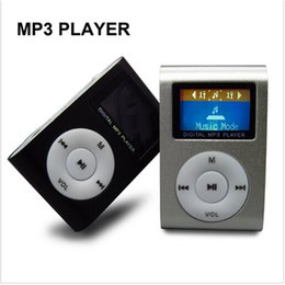 Wholesale Micro Clip Electronic - Wholesale- Portable Mini Digital Mp3 Clip Electronic Music Player Sport Mp 3 LCD Screen Support Micro SD Card USB Flash Musicas Mp3-player