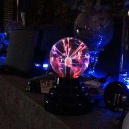 Wholesale Electrostatic Lamp - Wholesale- 2017 USB Plasma Ball Electrostatic Sphere Light Magic Crystal Lamp Ball Desktop Lightning Christmas Party Touch Sensitive Lights