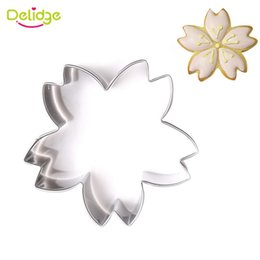 Wholesale Cherry Wedding Cake - 1pc Stainless Steel Cherry Cake Cookie Cutter Mold 3D Biscuit Fondant Cake Confectionery Mold DIY Wedding Baking Tools