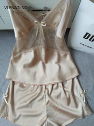 Wholesale Sexy Lingerie Miniskirt - Wholesale- 2016 Women's Sexy Bride Lingerie Lace-side Babydoll White Pajamas Negligee Pyjamas Vintage Nightgown Miniskirt
