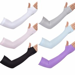 Wholesale Bike Ice - Outdoor Games Sports Hiking Cycling Arm Sleeves Sun UV Protection Bike Bicycle Ice Silk Breathable High Quality New