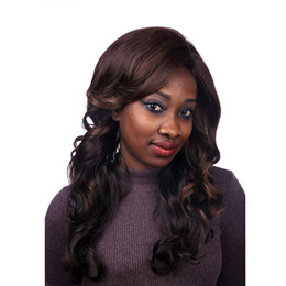 Wholesale Two Tone Cheap Lace Fronts - Machine making wig Lace Front Wig Wave Blonde Glueless Ombre Two-Tone Silk Heat Resistant Fake Hair Wigs body Cheap Afro for Black Women
