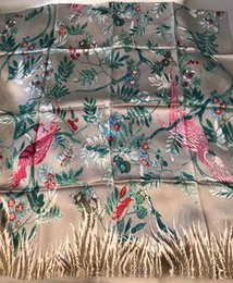 Wholesale Crepe Shawl Scarf - 200*100CM 100% Silk Crepe Satin 19 MM Heavy Thicker Luxury Scarf Women Designers Big Long Scarves Real Silk Scarf Shawl