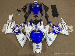 Wholesale Blue Racing Seats - Free gifts+Seat Cowl New racing Fairing Kits For SUZUKI GSXR 600 750 K6 06 07 GSXR-600 GSXR750 GSXR600 GSXR-750 2006 2007 lucky blue white