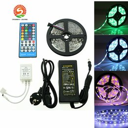 Wholesale Pc Lighting Kits - Whole set Waterproof 5M 300LED 5050 SMD RGBW RGBWW Flexible Led Strip Light 60leds M Led Tape Tube Light Strip Lighting Kit