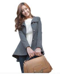Wholesale Tuxedo Coat Women - 2016 Korean Style Autumn Women Tuxedo Slim Single Breasted Coat Chaqueta Sobretudo WCB0022