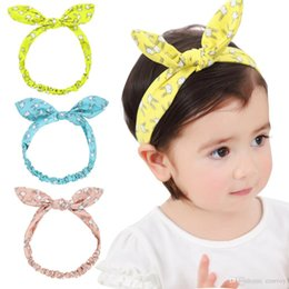 d19c64a1b1dbd7 Mode Baby Stirnbänder Animal Print Haarbänder Mädchen Häschen Ohr Kopf  Bands Kinder Turban Knoten Elastische Headwear Kinder Haarschmuck KHA382