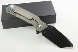 Wholesale Titanium Knife Blades - Samier Knives High Quality Skike Rogue Shark Custom Folding Knife CTS-XHP Blade Anodized TC4 Titanium Handle Tactical Survival Knives EDC