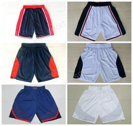 Wholesale Usa Basketball Shorts - 2012 USA Basketball Shorts 1992 American Short Pant 2016 Twelve Dream Team Running Short Team Navy Blue White All Stitched Quality