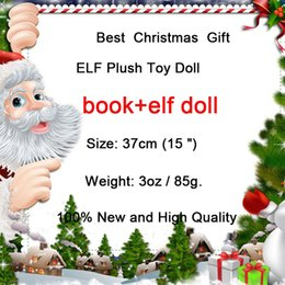 Wholesale Cloth Soft Book - New Plush ELF Dolls+Book Red Girl & Boy Figure Christmas elves of Christmas Novelty Toys Xmas Gift For Kids Holiday Gift