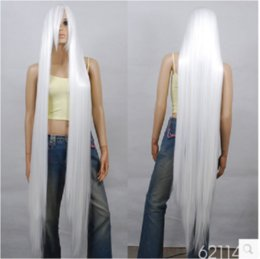 Wholesale Extra Long Blonde Cosplay Wig - Freeshipping synthetic lace front wig+cap>> wholesale 150cm Extra Long White Cosplay Wig - 60 inch High Temp - Cosplay Wigs