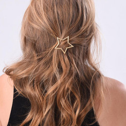 Wholesale Hair Ponytail Holders Jewelry - 1PC NEW Fashion Women Girls Star Heart Hair Clip Delicate Hair Pin Hair Decorations Jewelry