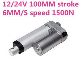 Wholesale Dc Electric Linear Actuator - 24V 6mm s speed 100mm stroke 1500N 150KG 330 lbs load Waterproof electric dc linear actuator