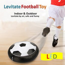 Wholesale Toy Foam Balls - Led lights Air Power Soccer Ball Disc Indoor Football Toy Multi-surface Hovering and Gliding Toy Soft Foam Floating MOQ:20PCS