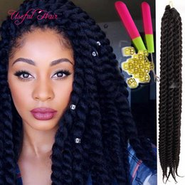 fashion hand make 2x Havana mambo twist crochet hair extensions marley twist 12strands pcs ombre color synthetic braiding hair wand curl Deals