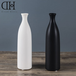 Wholesale Modern Decoration White Vase - Genuine Dream House DH VS128553 white ceramic flower case black porcelain flower bottle home decoration accessories wedding vase