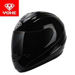 Wholesale Motorcycle Helmet Electric Visor - 2017 New Eternal YOHE motorcycle helmet full Face electric bicycle motorbike helmets made of ABS and PC visor for men women Model YH993