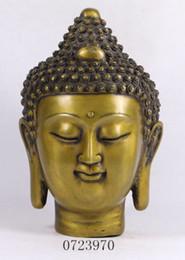 Wholesale Tibetan Bronze Buddha Statue - Chinese Tibetan Buddhism Bronze Gilt Shakyamuni Sakyamuni Buddha Head Statue