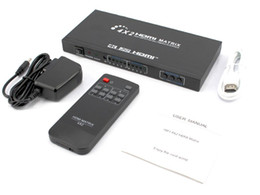 Wholesale Hdmi Matrix Switch 4x2 - 4x23DHDMISwitch splitterwithRemoteControl HDMIMatrix4HDMIinand2out FullHD1080P