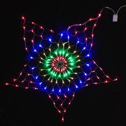Argentina 7W 130 Unids RGB Bombilla LED Estrella Red Luz de Navidad Decoración AC220V Entrada 1.5 Medidor de Diámetro Tamaño Luz de Vacaciones, Color RGBY cheap holiday meter Suministro