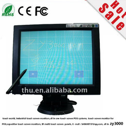 Wholesale 12 Pc Monitor - new wholesale 4 pcs lot Free Shipping DHL 3-4 Working Days Door to Door 12 Inch 4:3 Touch screen Led Monitor For POS with VGA USB contorl