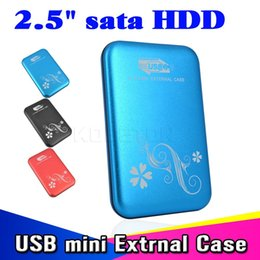 "Wholesale Hard Drive Metals - Wholesale- 2015 New Metal 2.5"" 2.5 inch USB 3.0 to HDD Case Hard Drive Disk SATA External USB3.0 Storage Enclosure aluminium Box"